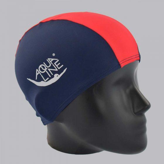 bonnet aqualine bleu et rouge